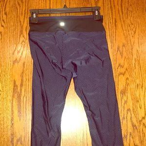 Koral athletic leggings, Capri length, navy/black